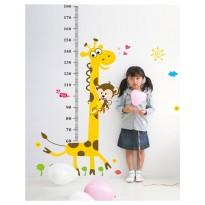 Samolepka na stenu - Metríková žirafa