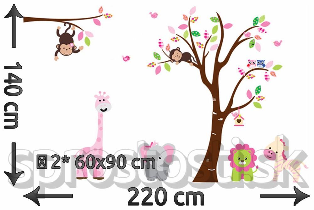 Samolepka na stenu - Detské zoo