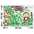 Samolepka na stenu - Opičky na konári