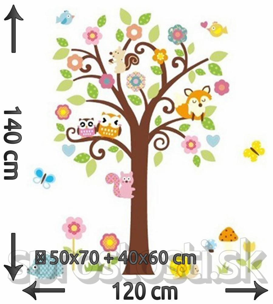 Samolepka na stenu - Líška na strome