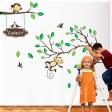 Samolepka na stenu - Opičky v lese