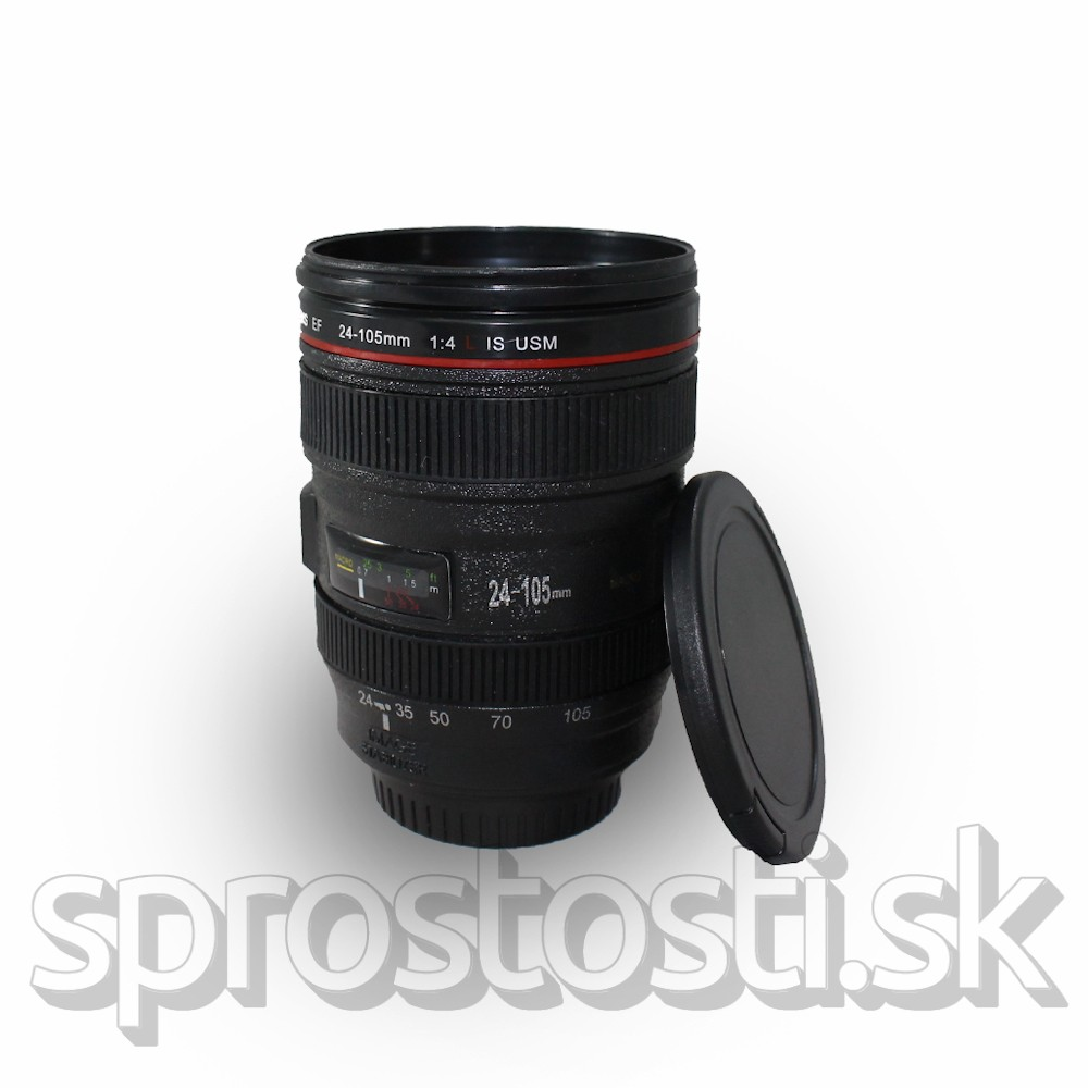 Pohár objektív - hrnček v tvare objektívu EF 24-105 mm