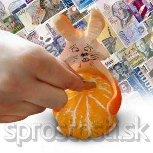 Pokladnička ošúpaný pomaranč