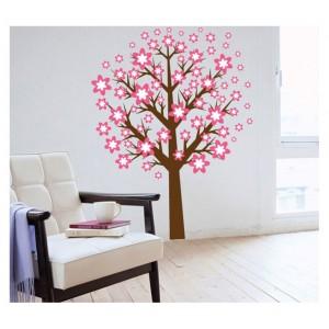 Samolepka na stenu - Ružový strom