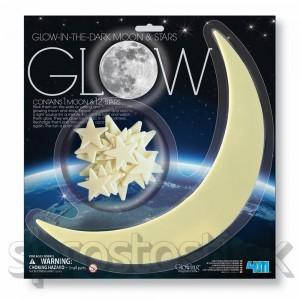 Svietiaci mesiac a hviezdy