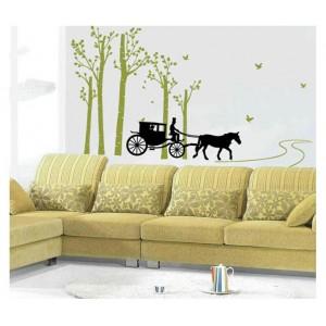 Samolepka na stenu - Na koči z lesa