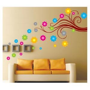 Samolepka na stenu - Farebný vietor