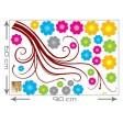 3D tapeta - Farebný vietor