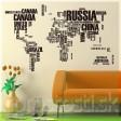 Samolepka na stenu - Svetová mapa