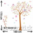 Samolepka na stenu - Rozprávkový strom 2