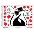 3D tapeta - Zamilované mačky