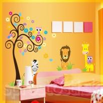 Samolepka na stenu - Lev a Zoo