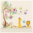 Samolepka na stenu - Farebné zoo
