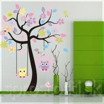 Samolepka na stenu - Hojdajúce sa sovičky