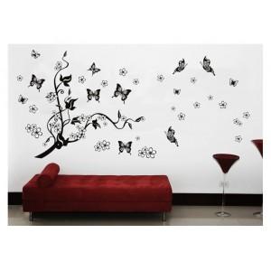 Samolepka na stenu - Zbláznené motýle