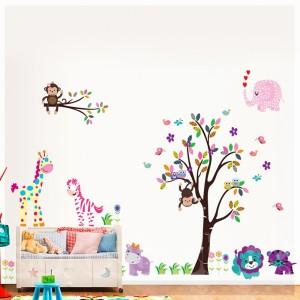 Samolepka na stenu - Modrý levík