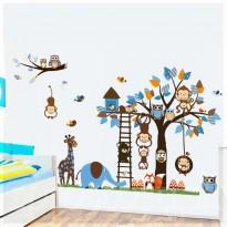 Samolepka na stenu - Modrá sova