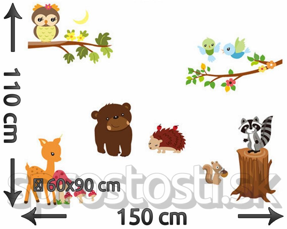 Samolepka na stenu - Medvedík čistotný