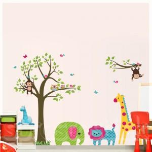 Samolepka na stenu - Zelený sloník