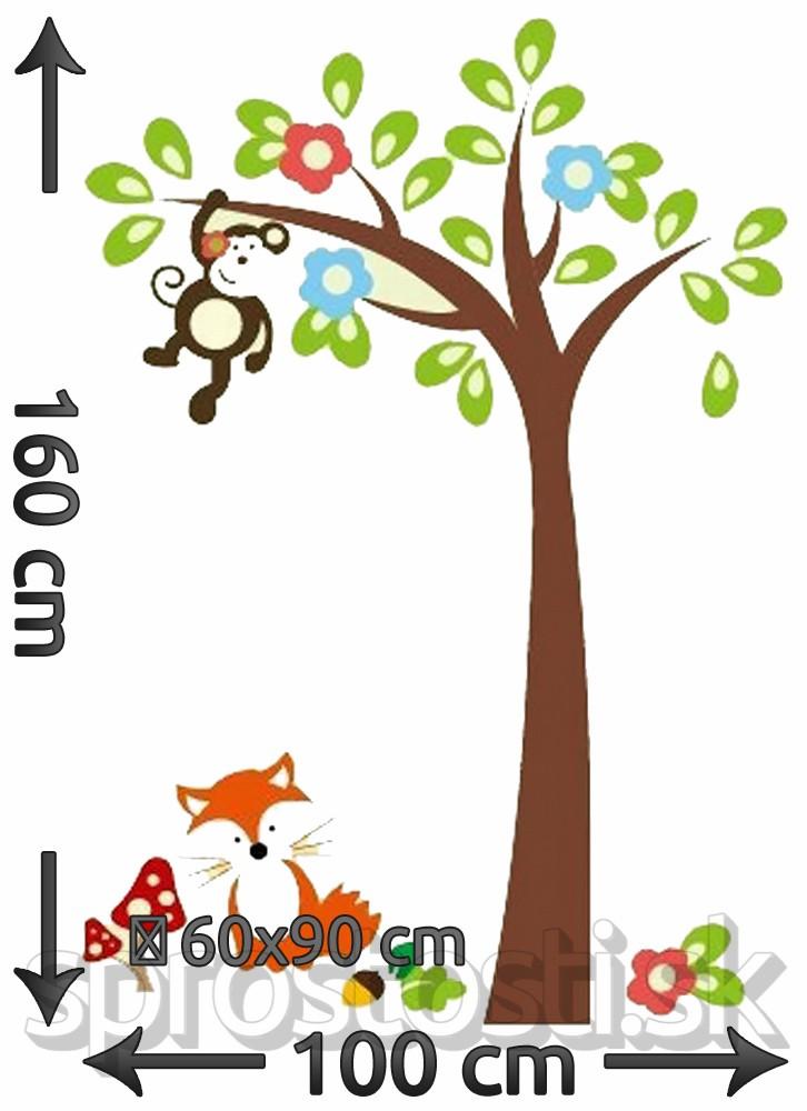 Samolepka na stenu - Oranžová líška