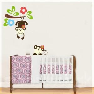 Samolepka na stenu - Malé opice