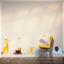 Samolepka na stenu - Fialový hroch