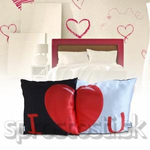 Romantická obliečka na vankúš 2ks
