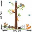 Samolepka na stenu - Rovný strom