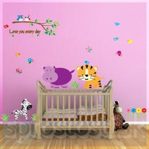 Samolepka na stenu - Tigrík