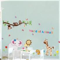 Samolepka na stenu - Ružový sloník