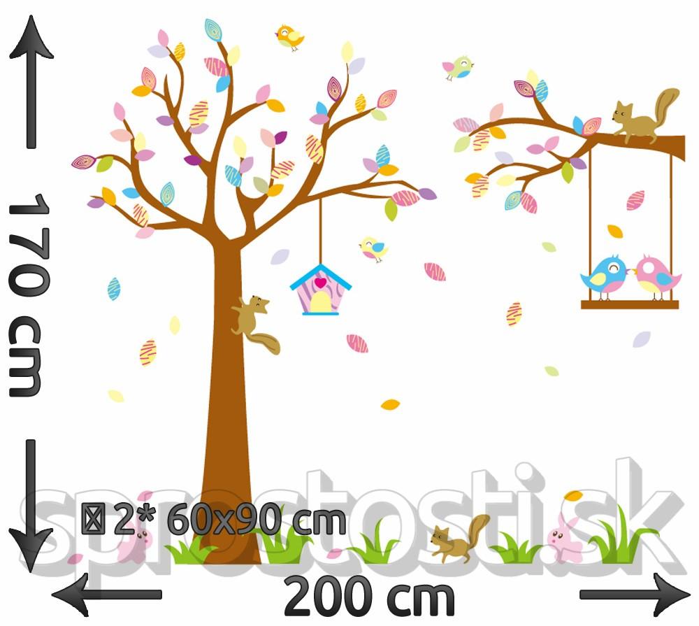 Samolepka na stenu - Vrabčeky