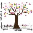 Samolepka na stenu - Tučný strom