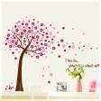 Samolepka na stenu - Rozfúkaný strom ružový