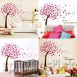 Samolepka na stenu - Rozfúkané strom ružový