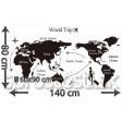 Samolepka na stenu - Cesta okolo sveta