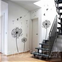 Samolepka na stenu - Jemné púpavy