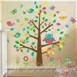 Samolepka na stenu - Sovy a motýle