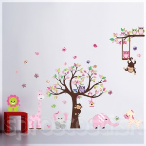 Samolepka na stenu - Detské Zoo 2