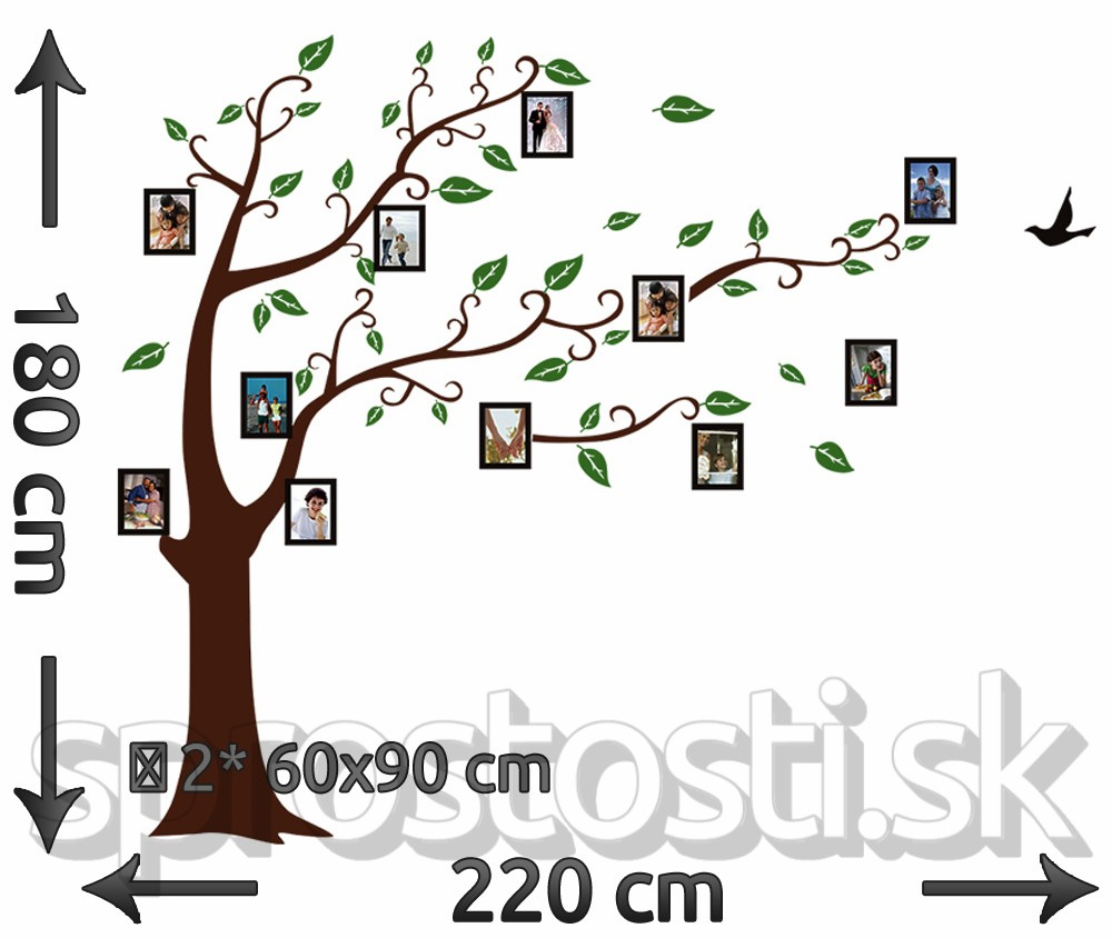 Samolepka na stenu - Strom so spomienkami XXL