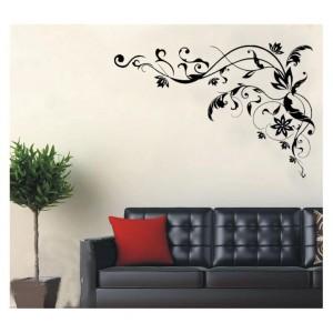 Samolepka na stenu - Kvetinky v rohu