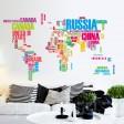 Samolepka na stenu - Farebná mapa sveta