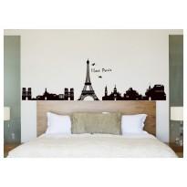 Samolepka na stenu - Paríž za oknom