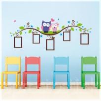 Samolepka na stenu - Sovie rámčeky