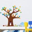 Samolepka na stenu - Sovky a Zajko