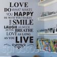 Samolepka na stenu - Láska