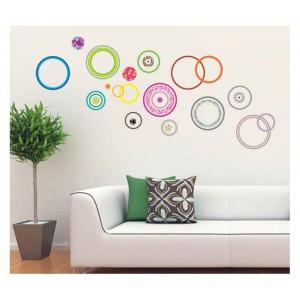 Samolepka na stenu - Veselé kruhy
