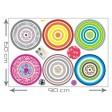 3D tapeta - Veselé kruhy