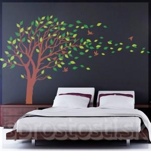 Samolepka na stenu - Rozfúkaný strom XXXL