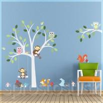 Samolepka na stenu - Biely strom