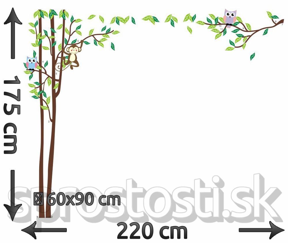 Samolepka na stenu - Natiahnutý strom